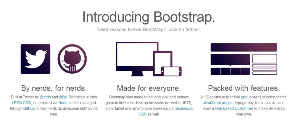 Twitter Responsive Design mit Bootstrap Template
