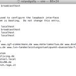 Mac local Host edit bearbeiten