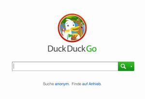 Anonyme Suchmaschine duckduckgo