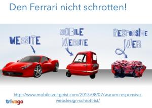 Responsive Webdesign Ferrari schrotten