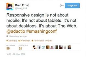 Responsive Webdesign Quote Zitat