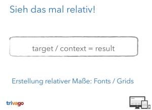 Responsive Webdesign target context-result