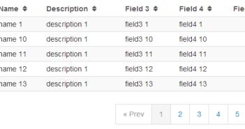 Angularjs Table Paging