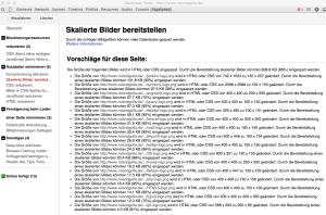 Webdesign Performance Optimierung Bilder skalieren