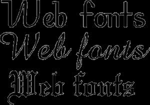 Webdesign Webfonts