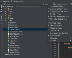 PhpStorm single click open file