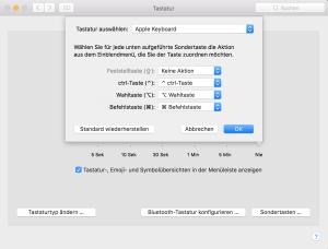 Mac OS X Caps Lock Feststelltaste deaktivieren