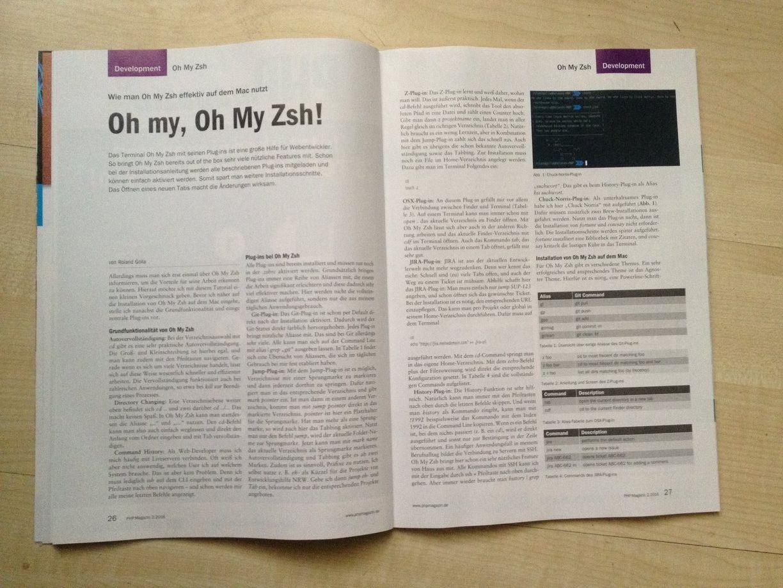PhpStorm und oh-my-zsh Settings Terminal und Font