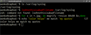 oh-my-zsh Syntax Highlighting Plugin